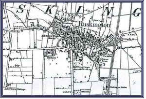 Map of Ruskington, c. 1910